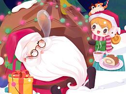 途牛圣诞节插画