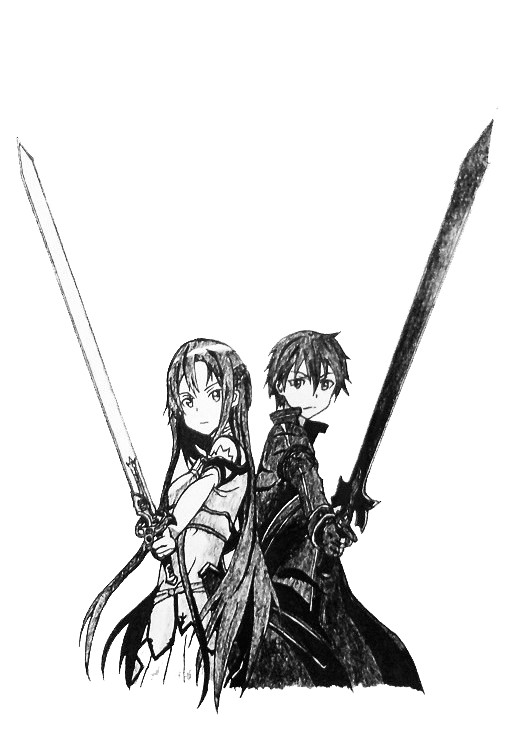 《刀剑神域》——亚丝娜&桐人