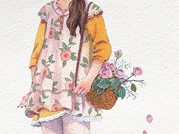 花与少女系列:④ 创作步骤图