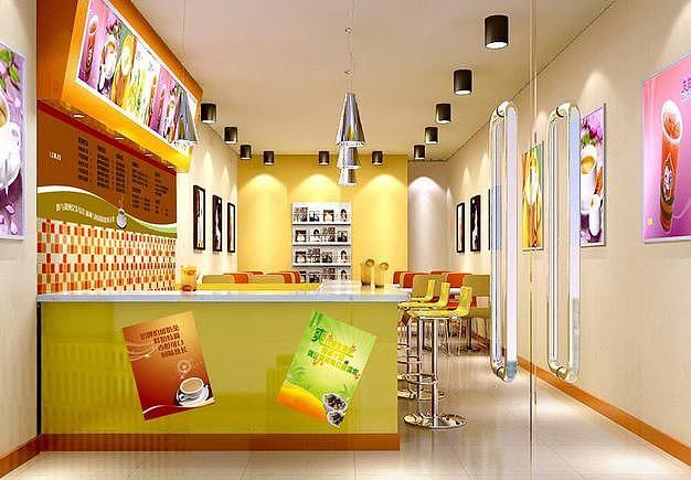 成都奶茶店设计 成都奶茶店装修