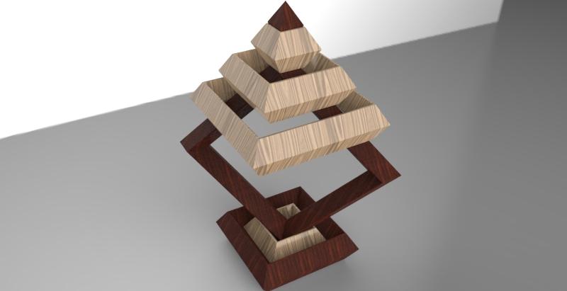原创作品:木质几何积木