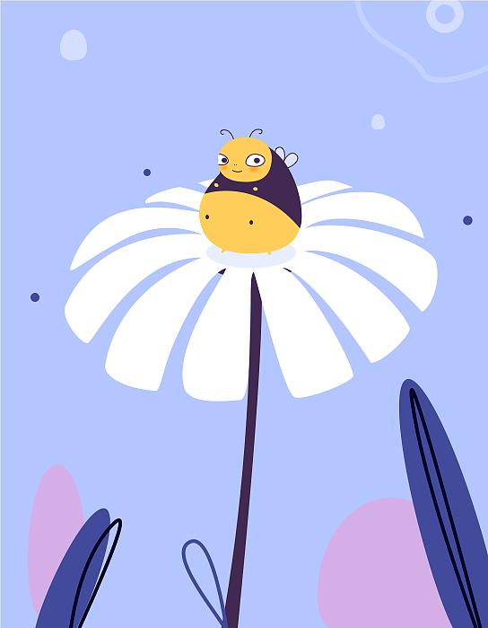 半临莫半创作,看到胖胖的小动物,真的可爱到不行,小蜜蜂是临摹