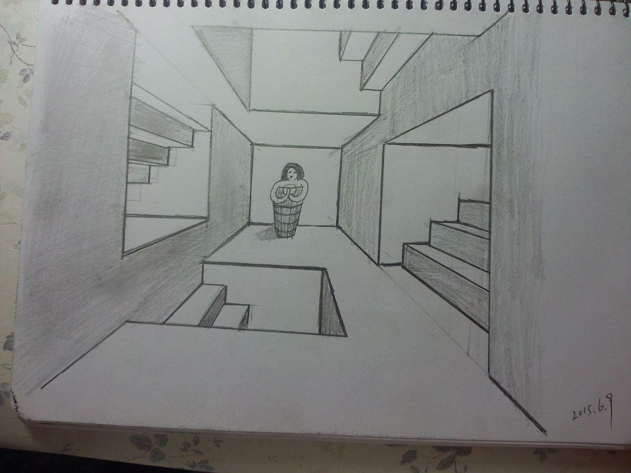 第二十二课 一点透视画房间