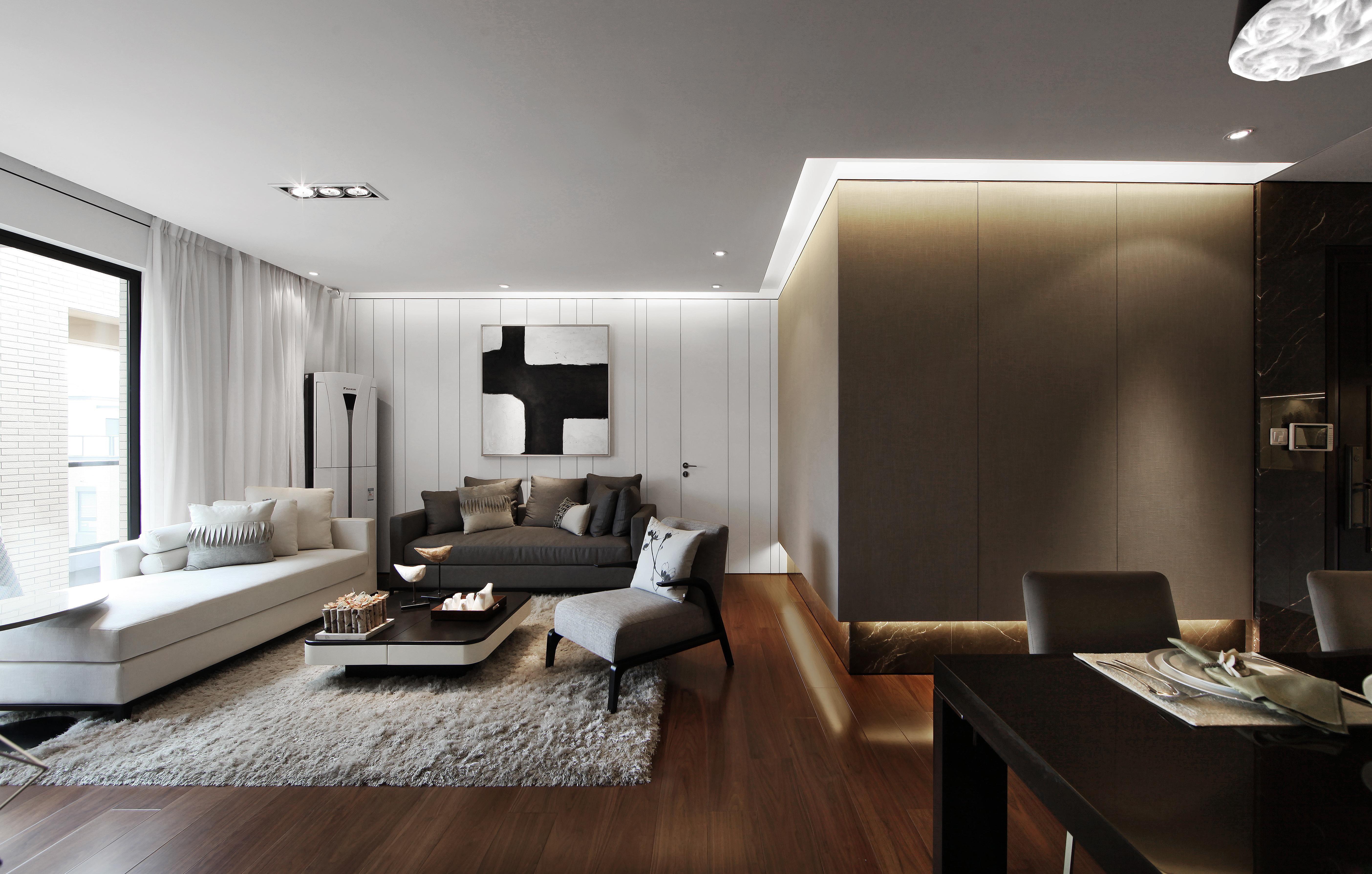 紫晶悦城三室现代风格装修效果图