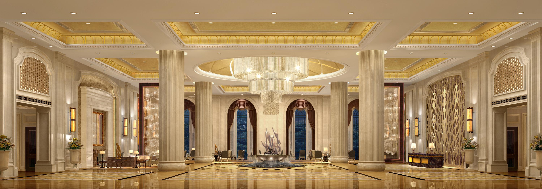 温泉渡假酒店大堂三维空间概念设计图片