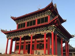 陕西曹家滩古建彩绘|中式墙面彩绘
