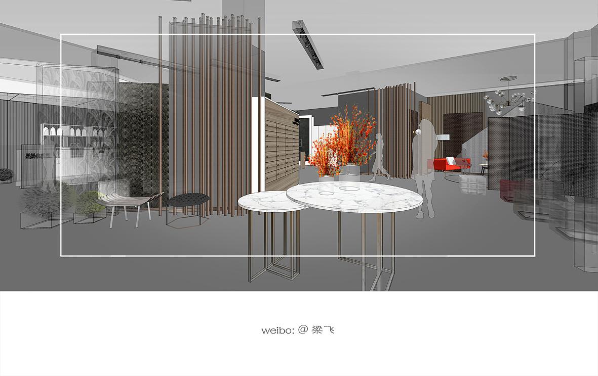 某品墙纸生活馆 室内空间设计概念方案
