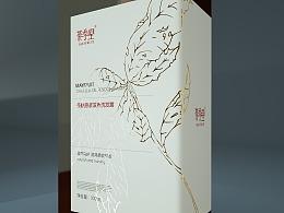 茶麸 山茶花油 植物 洗发水 包装设计 方案二