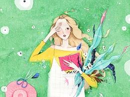 《十七岁》水彩插画合集