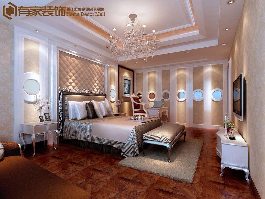 厦门水晶森林165平户型二手房欧式装修案例效果图