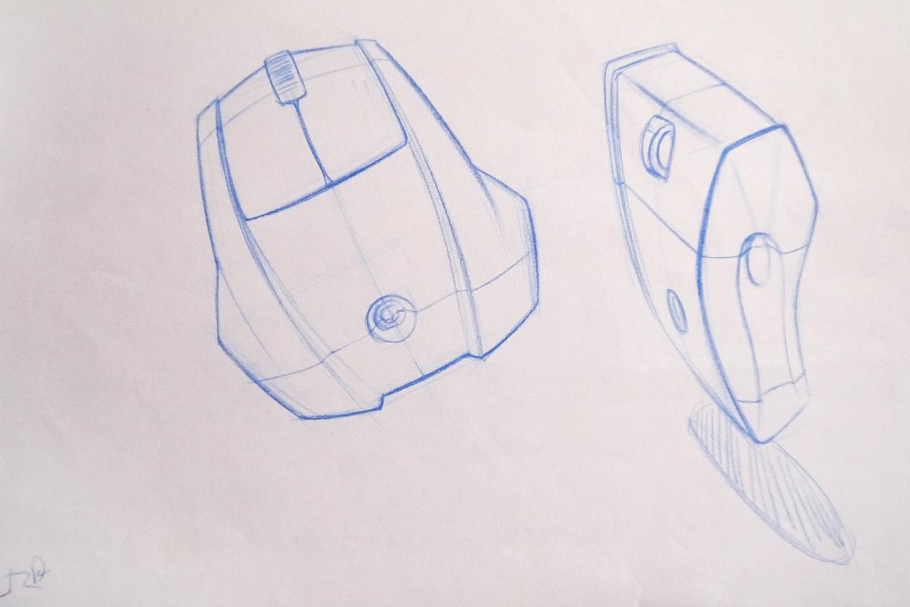 【设计手绘】彩铅手绘效果图|工业/产品|电子产品|荒村橙子 - 原创