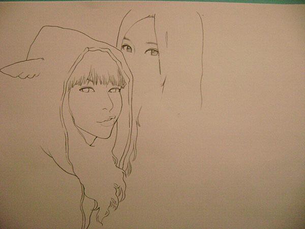 雨田三石手绘绘画步骤