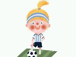 阿根廷球迷小萝莉