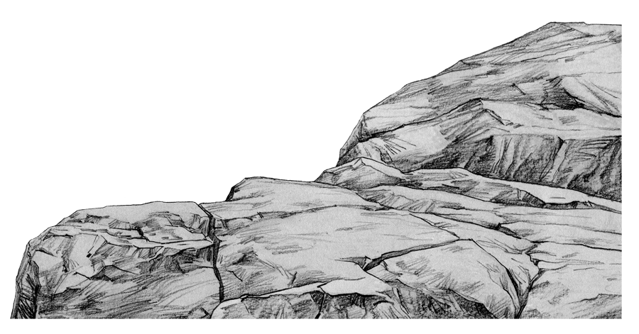 手绘岩石文理图片
