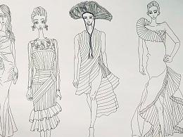 一些服装设计稿