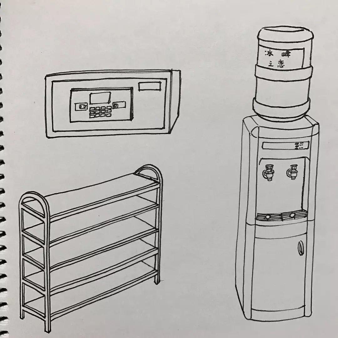 原创手绘-我的寝室