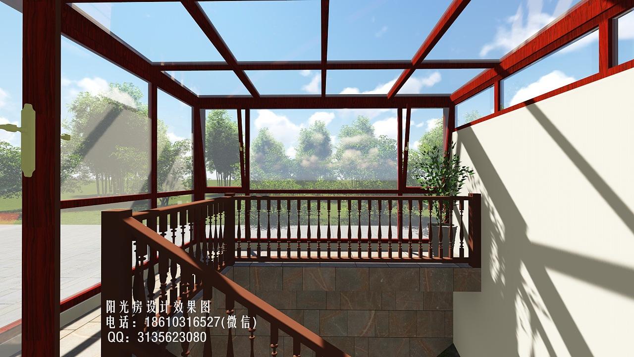 d3329铝合金阳光房设计效果图