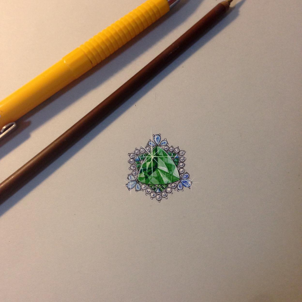 珠宝设计手绘图