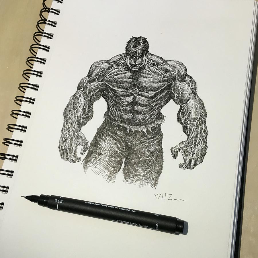 超级英雄系列手绘