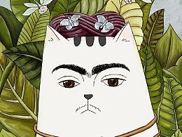 名画系列之《弗里达·猫桥一生·卡罗》