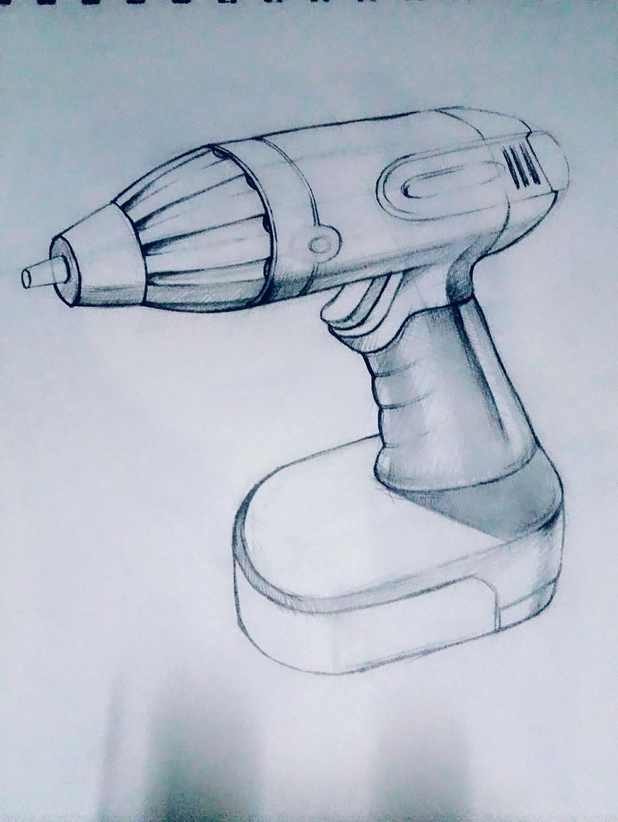 产品手绘图电钻