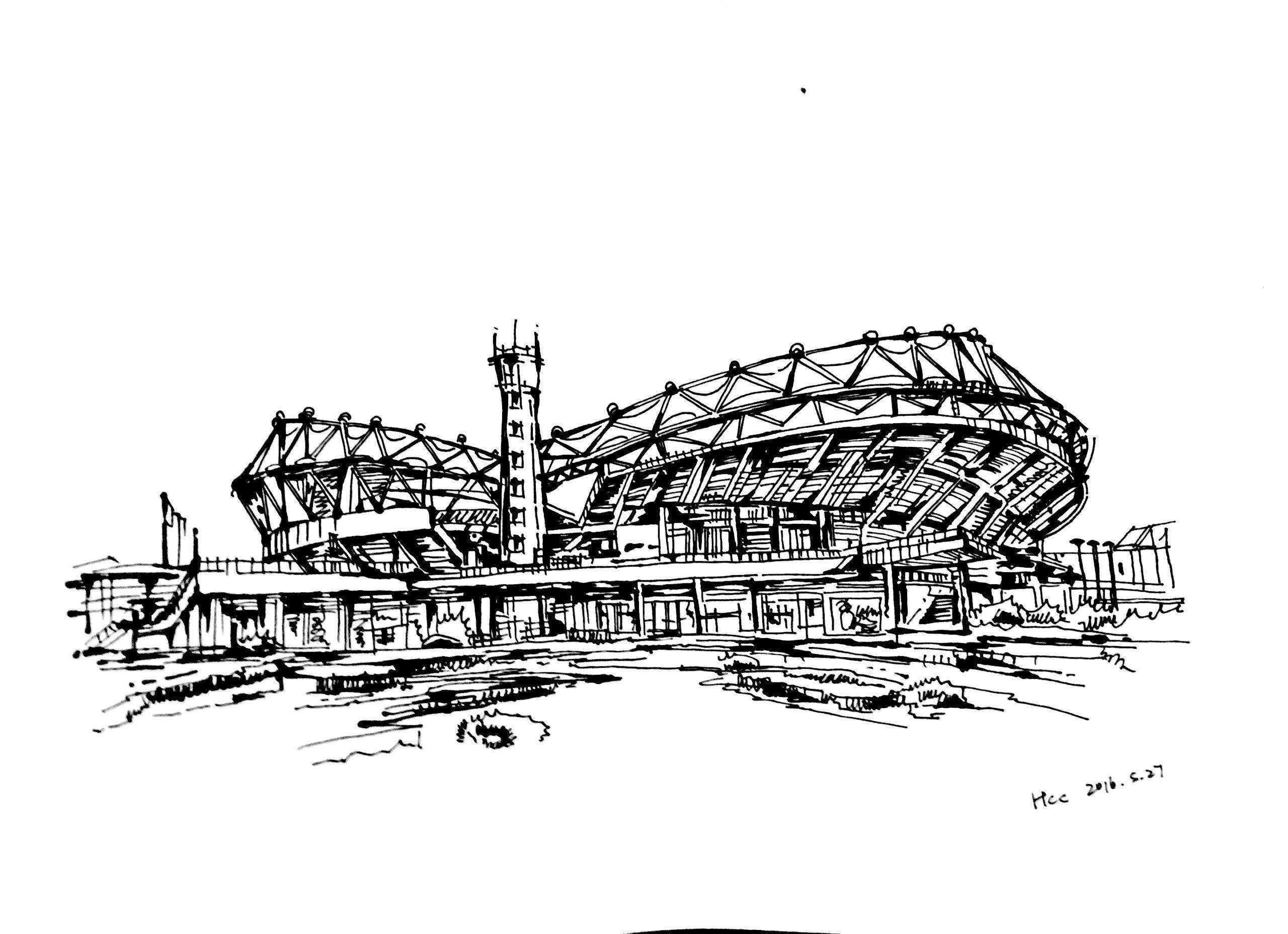 一些建筑画 钢笔画