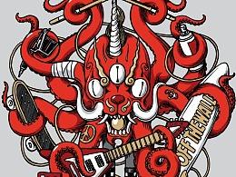 VANS Asian Art TEE —— Octopus Monster
