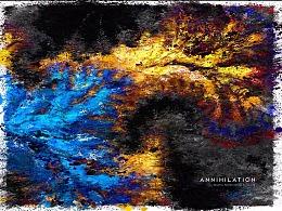 湮灭 Annihilation fractal poster design by gsmike