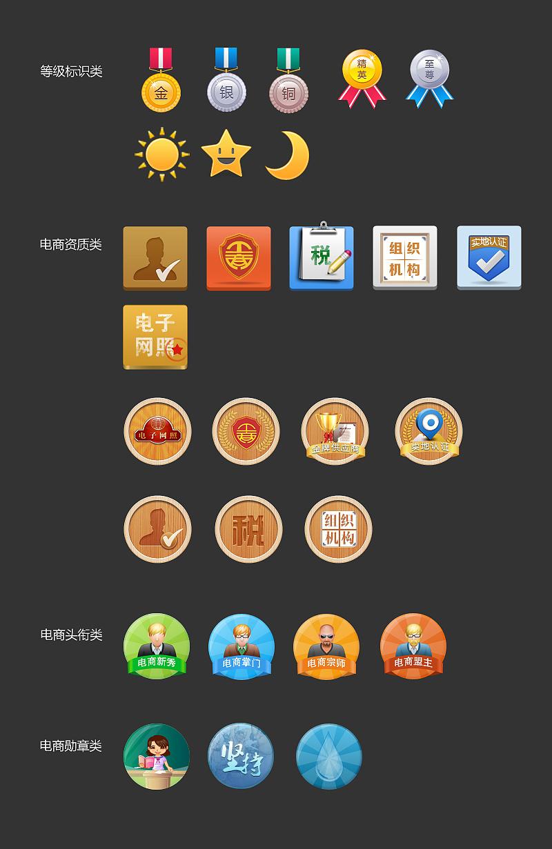 网站线上活动策划_等级资质类图标|UI|图标|TaeYeon_kim - 原创作品 - 站酷 (ZCOOL)