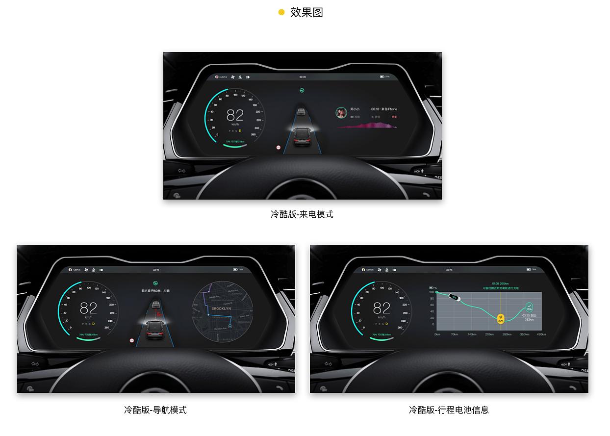 autopilot系统. 仪表屏重构设计图片