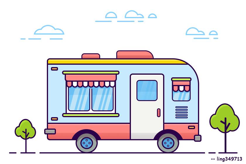 卡通快餐车 2017-6-28图片