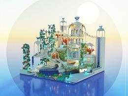 《雪の城》magicavoexl模型练习