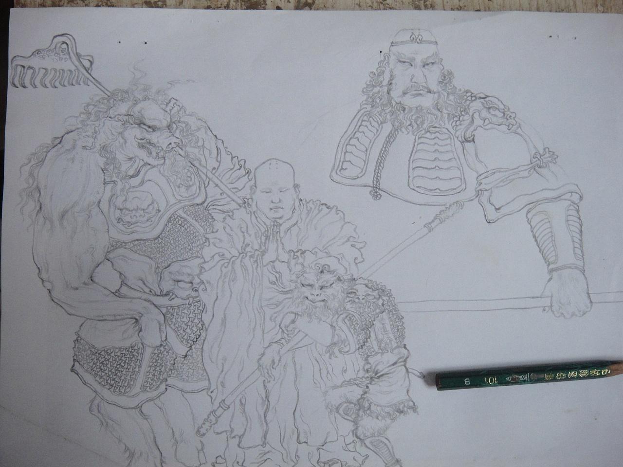 第一次画,铅笔手绘,不知道算不算插画