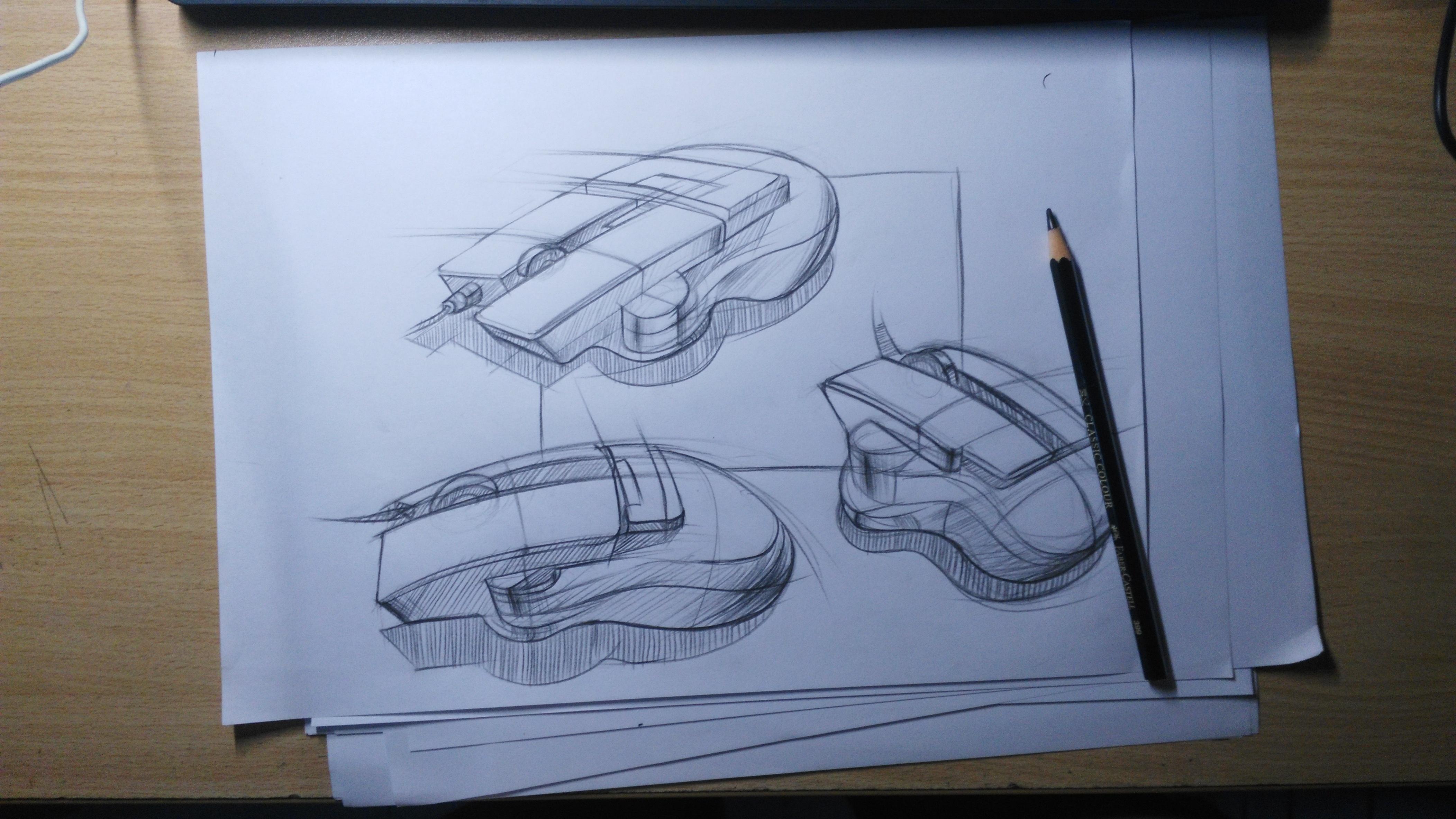 鼠标手绘|工业/产品|电子产品|享设计 - 原创作品