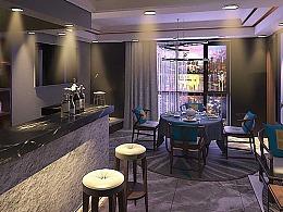 0基础室内设计马同学作品:中式清酒吧