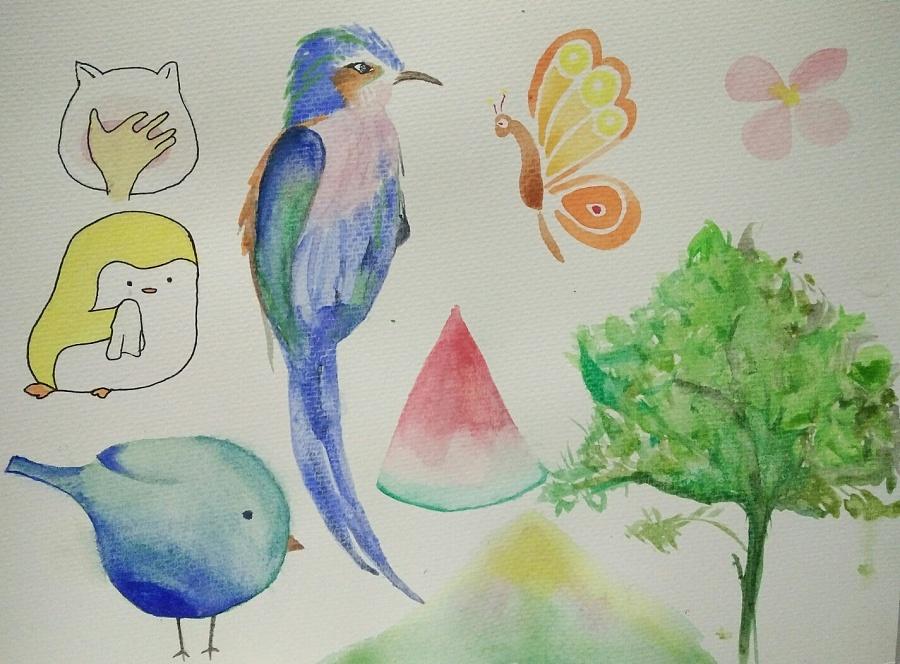 我的水彩插画成长记录图片