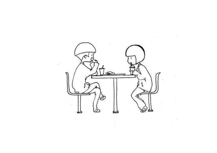 吃饭简笔画