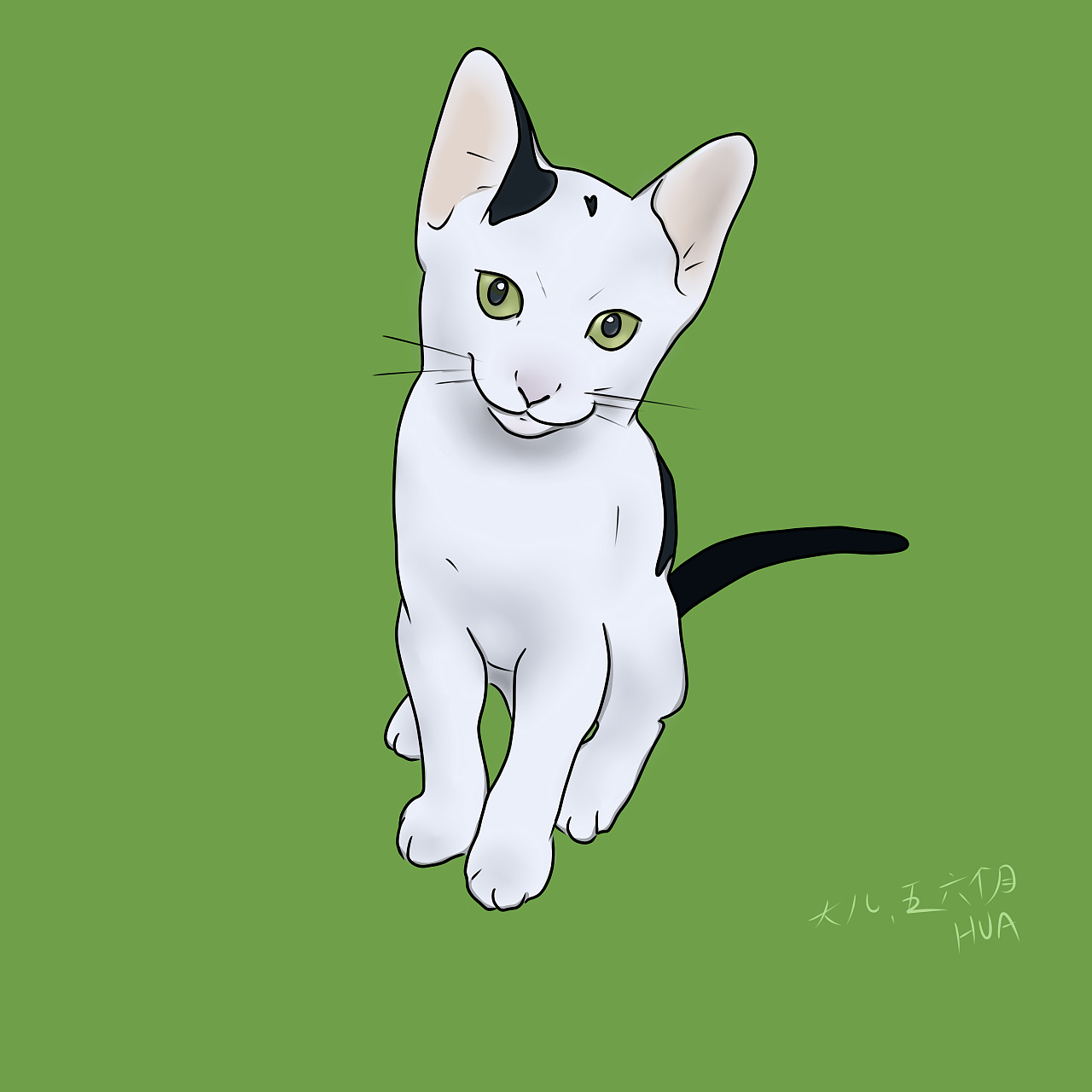 喵咪手绘头像奶牛猫