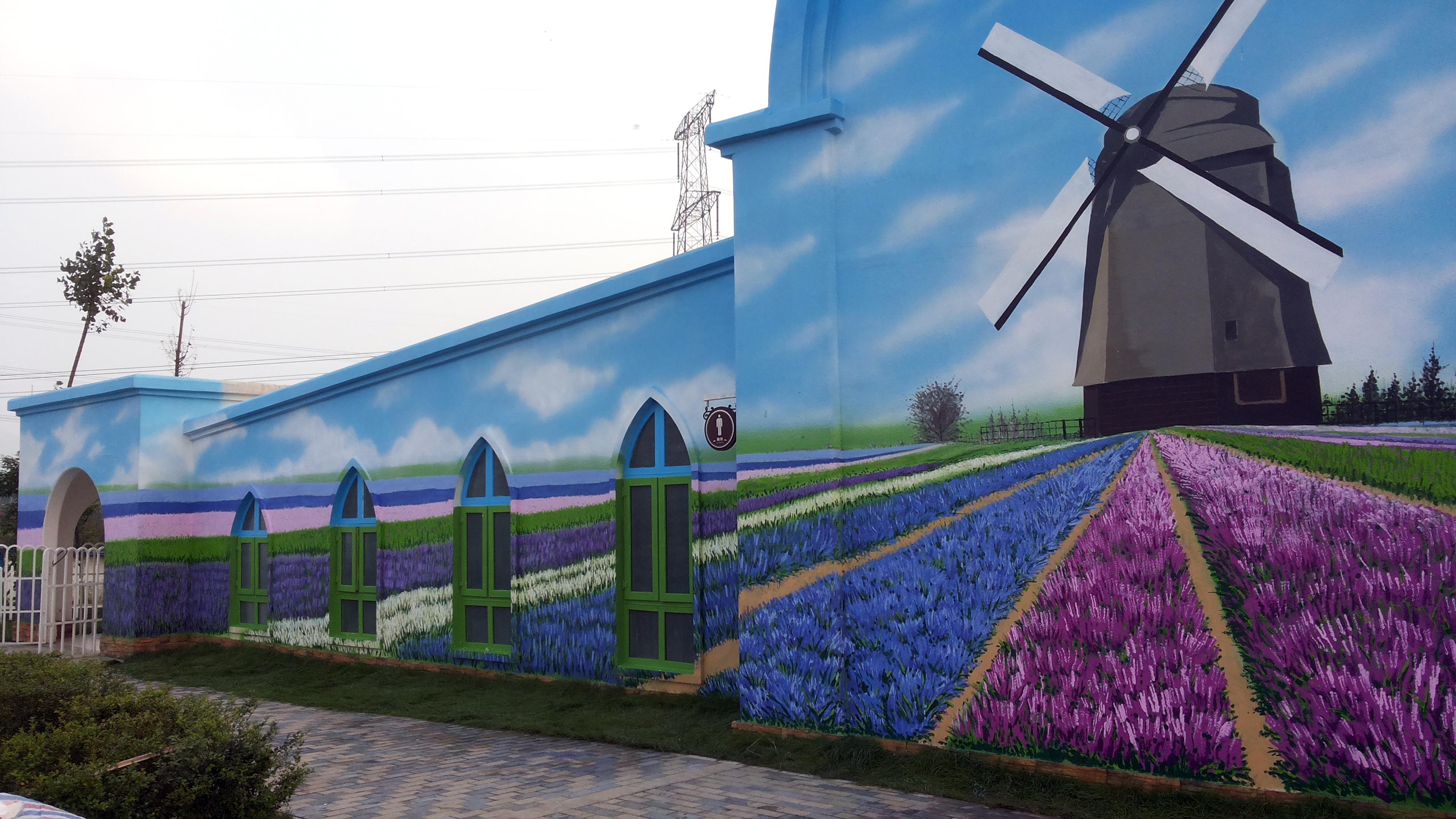 墙绘作品手绘墙 壁画 涂鸦
