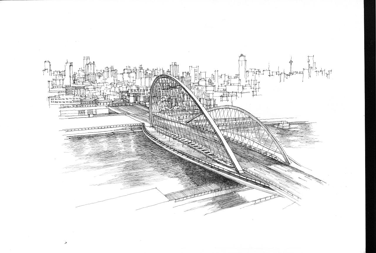 天津建筑手绘画