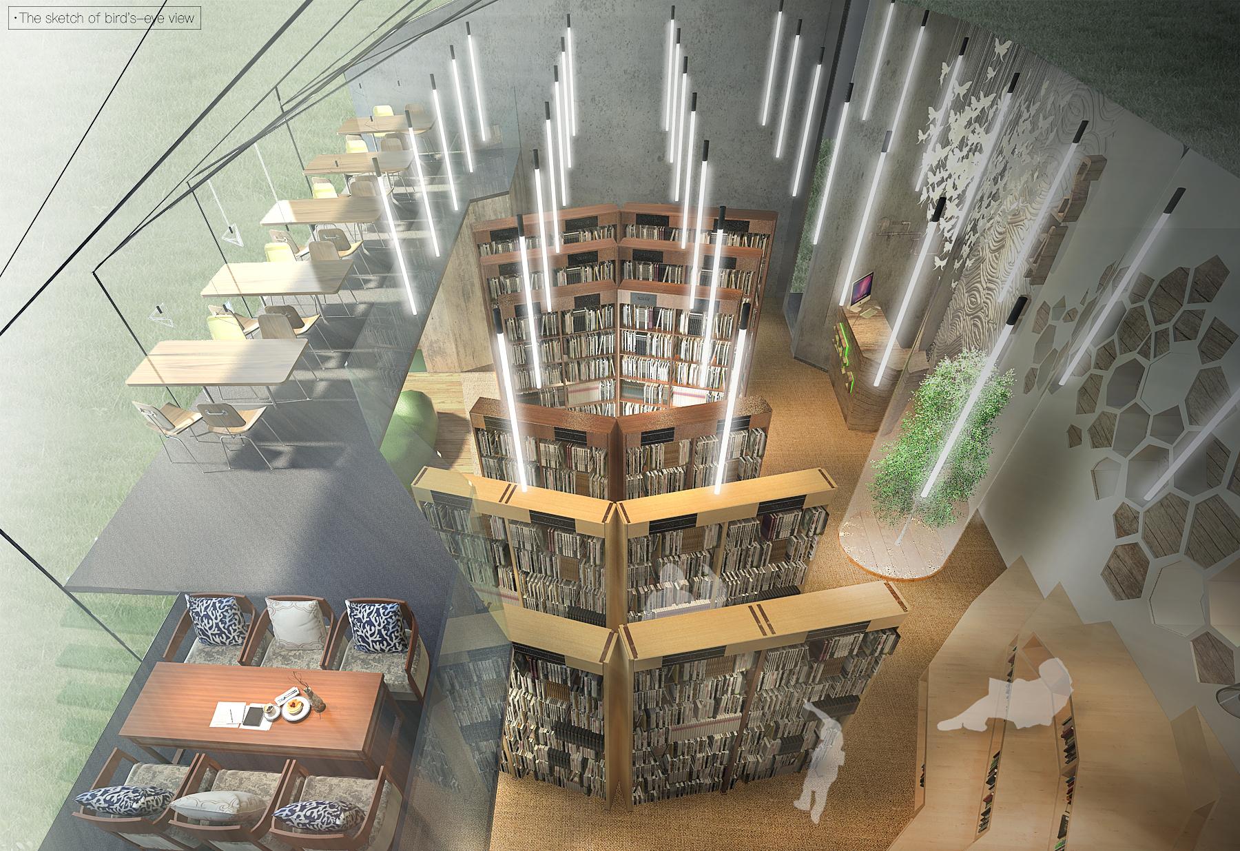 书屋手绘效果图