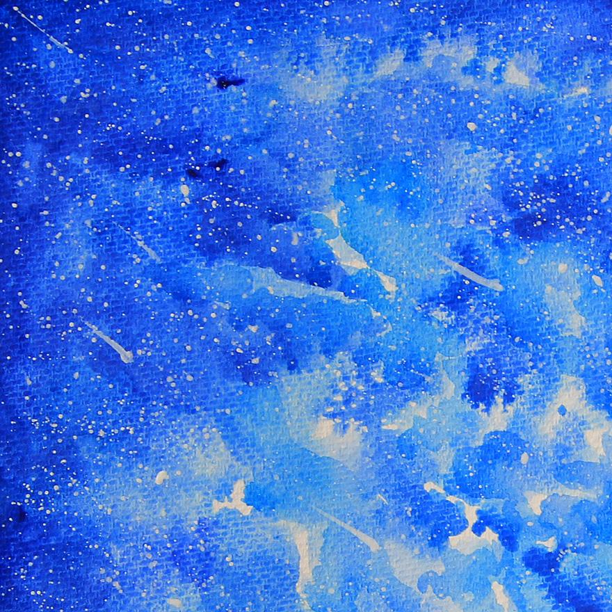 《星空》原创水彩画
