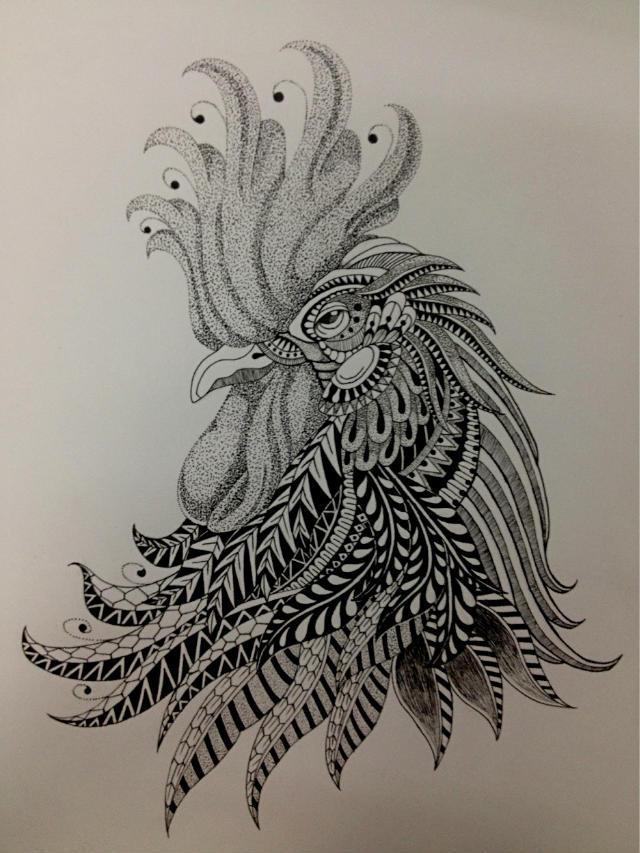 针管笔—《鸡》