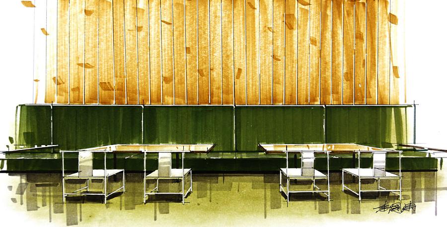 马克笔室内手绘表现|室内设计|空间|liguotao - 原创