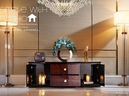 轻奢家具-塞瓦那莉-黑檀亮光(皮沙发/床/柜子/餐桌)