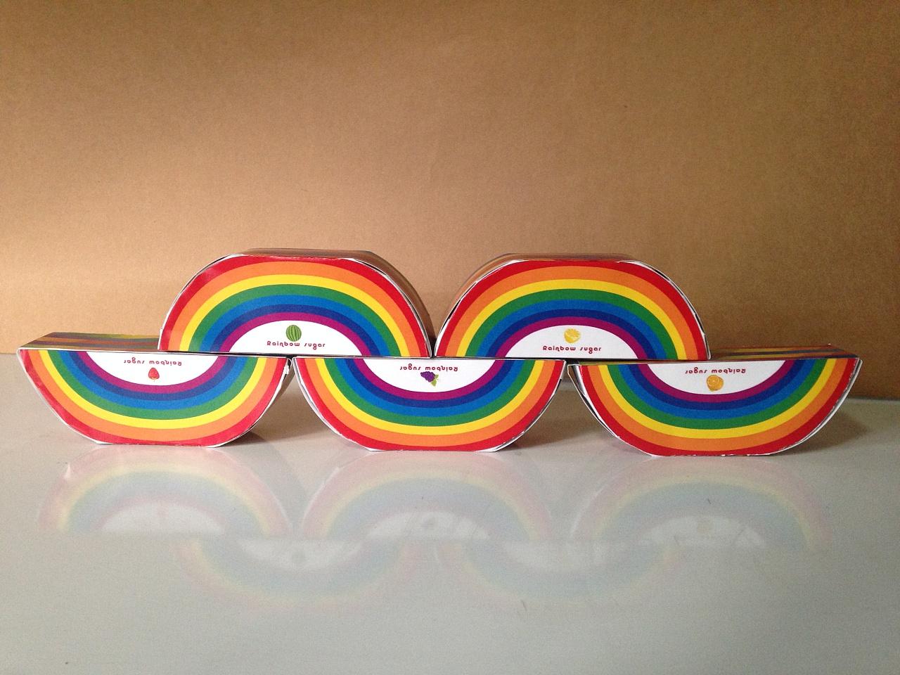 彩虹糖包装设计图片