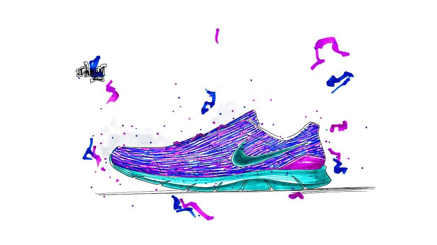 鞋子手绘|鞋类|服装|linlu1990