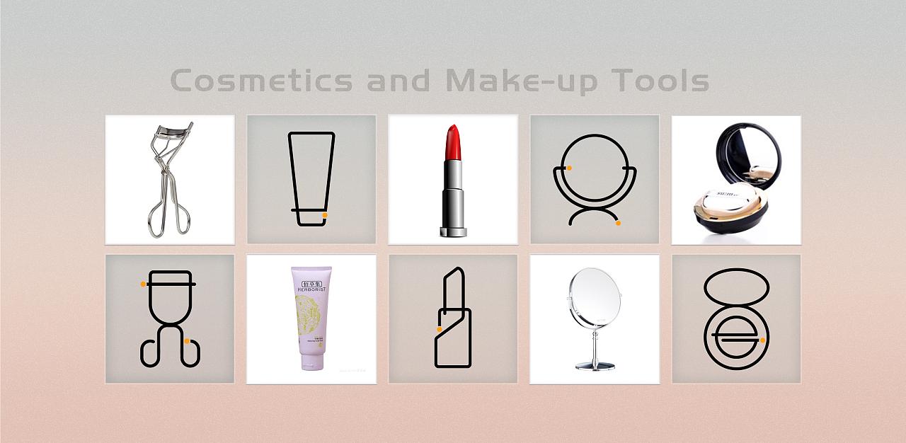 美妆图标设计图片