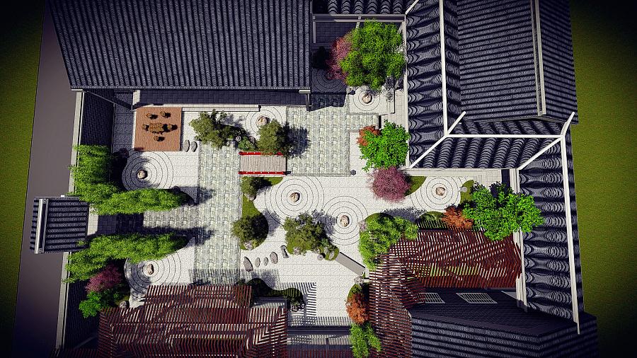 日式枯山水庭院|园林景观/规划|空间/建筑|liangxiao