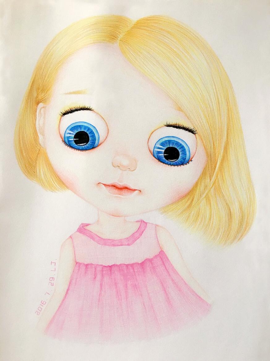 手绘彩铅画|其他绘画|插画|轩轩誉誉